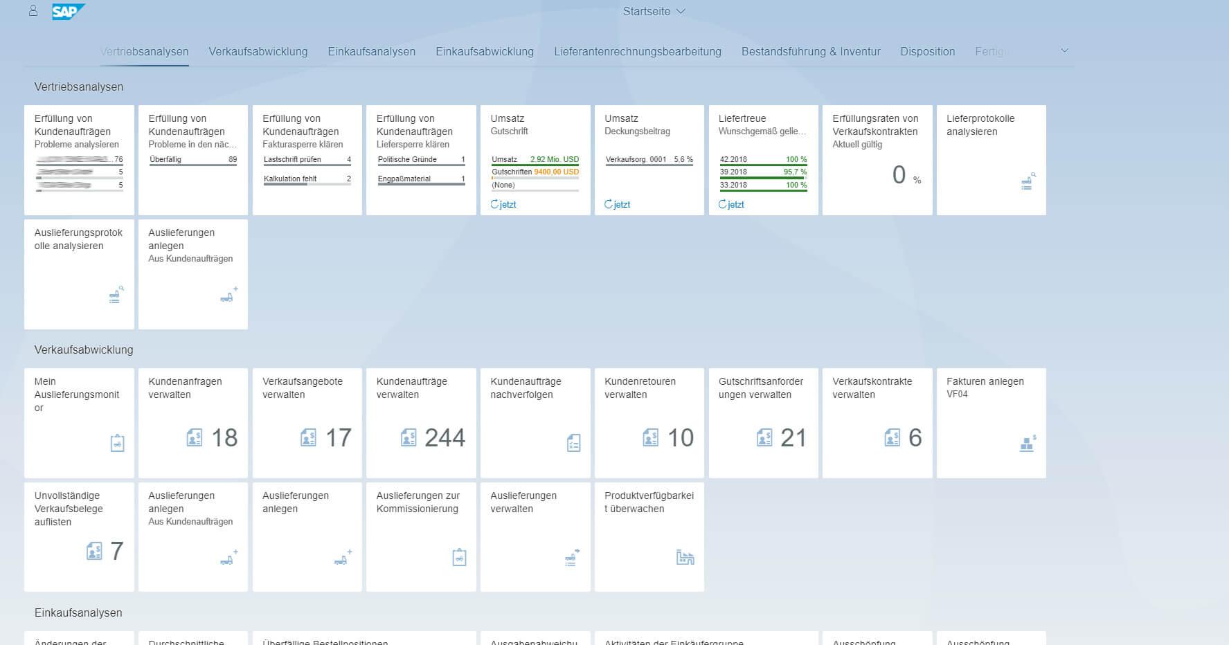 Überblick Benutzeroberfläche in SAP Fiori